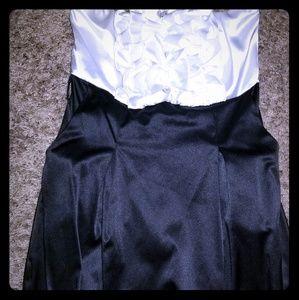 Tuxedo type dress